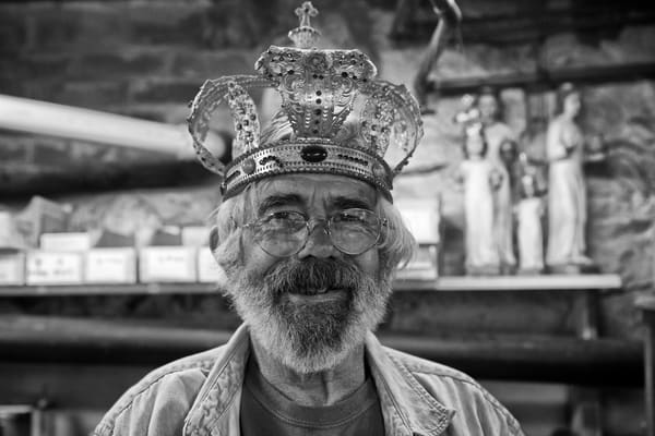 Martin smiles as he wears a crown similar to those used in Orthodox weddings.