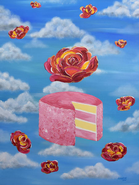 Celebrate Art Painting - Cake Celebration - Original Painting - Fine Art Prints on Canvas, Paper Metal and More