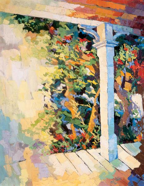 Porch Flowers Art   Goldwoman Fine Art