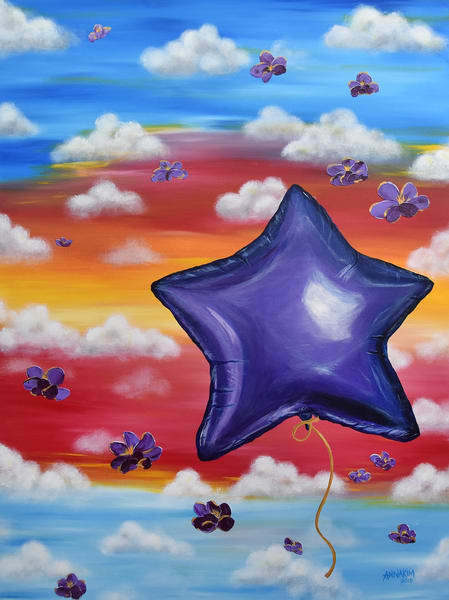 Possibilities Balloon Art Painting - Mylar Balloon Celebration - Original Painting - Fine Art Prints on Canvas, Paper Metal and More