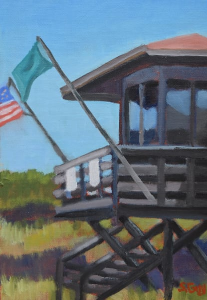 Nokomis Lifeguard Tower Art | Sharon Guy