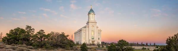 Cedar City Utah Temple - Sunset Panorama