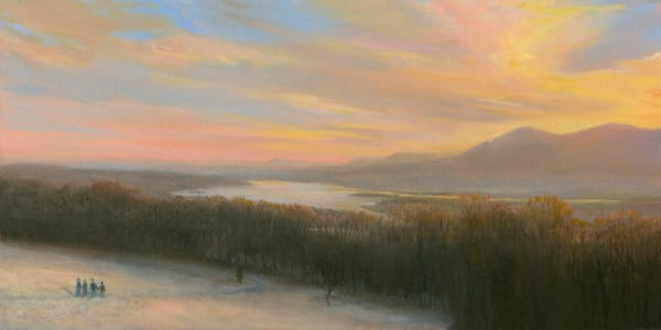 Winter Walk With Friends, Olana Art | Tarryl Fine Art