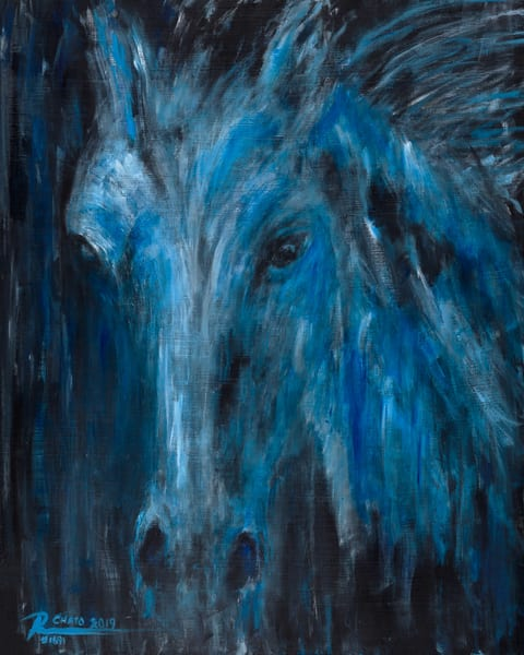 Original Spirit Horse Night by Ruben Chato