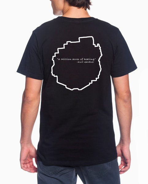 6 Million Acres Series / Unisex Lightweight T Shirt  (Black) | Kurt Gardner Photogarphy
