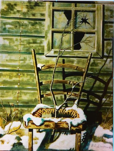 'winter Scene Old And Dilapidated' Art   John Simonis Art Gallery