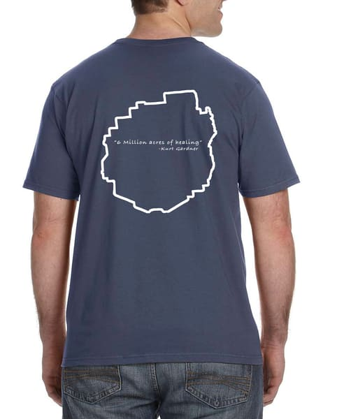 6 Million Acres Series Unisex Lightweight T Shirt  (Lake) | Kurt Gardner Photogarphy
