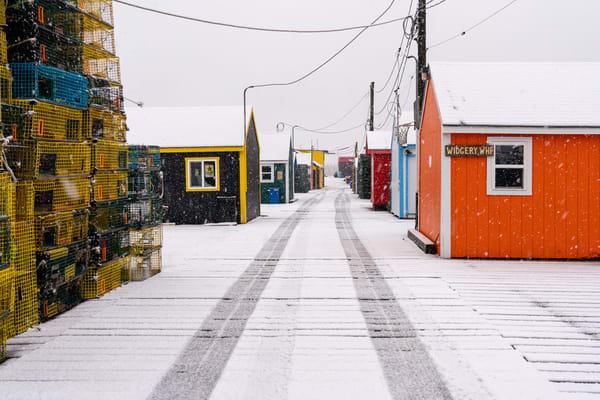 Winter Morning on Widgery Wharf
