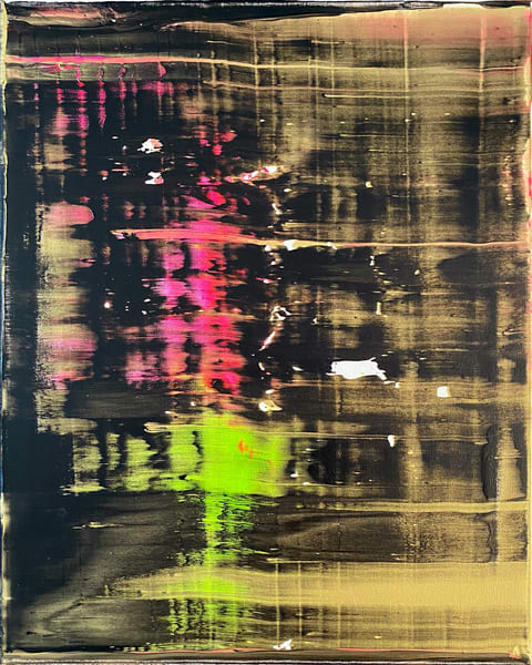 Surveillance abstract neutral acrylic painting