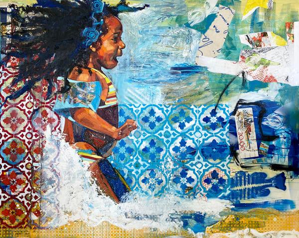 Caribbean Sea Girl Art | Bianca Berends