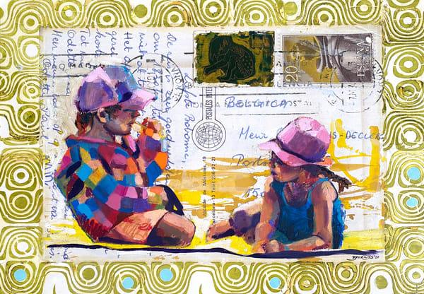 Postcard Beach Buddies Art | Bianca Berends