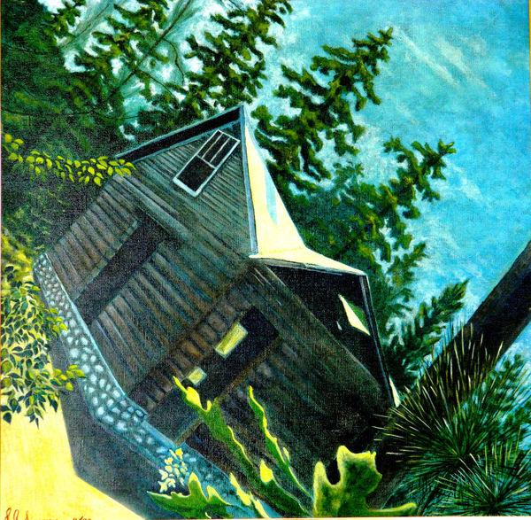 'old Corner Cabin' Art   John Simonis Art Gallery