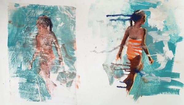 Sundown Beach Girl Art | Bianca Berends