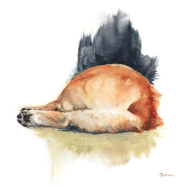 Sunday Corgi Art | Van Isle Dog Art