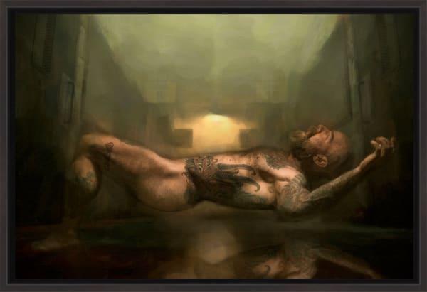 Fallen Angel, Limited edition Encaustic,
