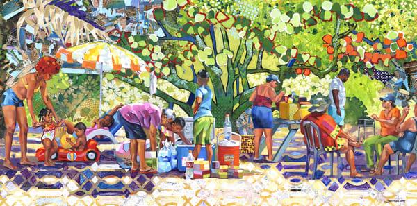 Caribbean Beach Scene Art | Bianca Berends
