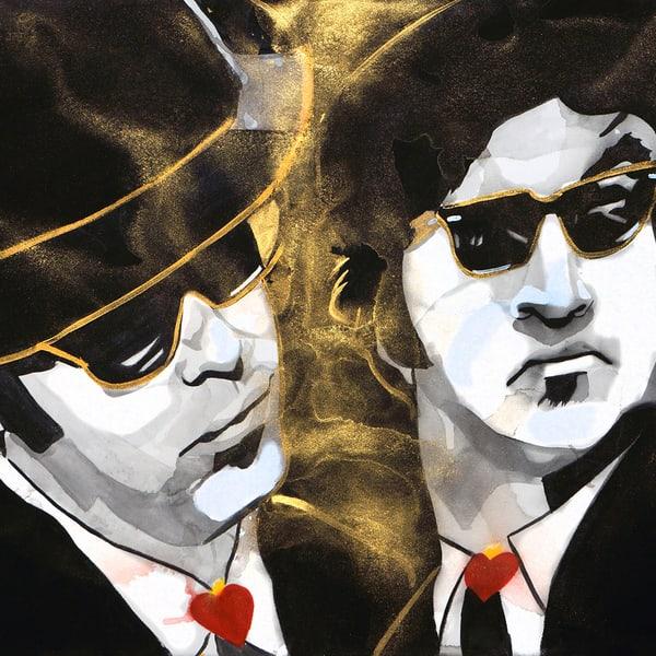 Blues Brothers Coaster Art | William K. Stidham - heART Art