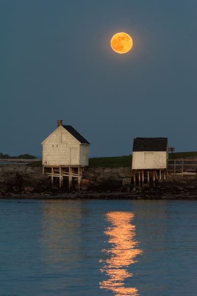 Moonrise At Willard Beach Photography Art | Jesse MacDonald Photography