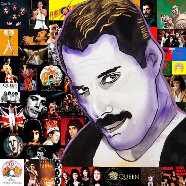 Freddie Mercury Coaster Art | William K. Stidham - heART Art