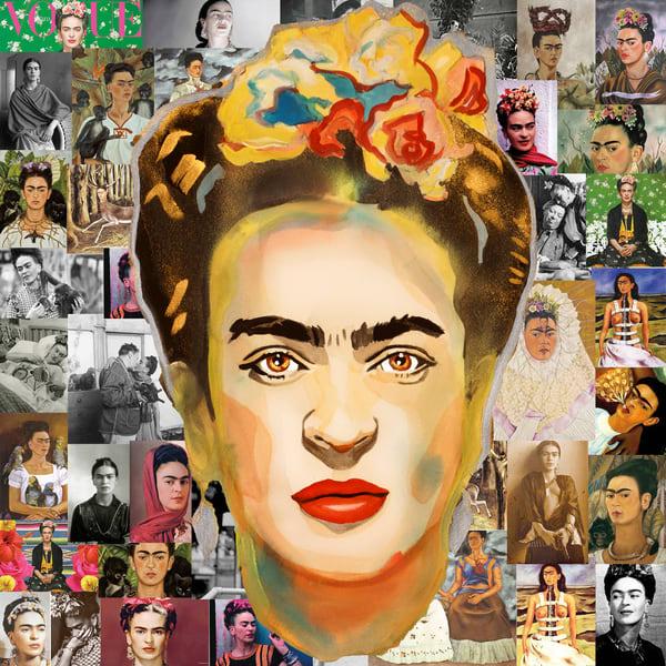 Frida Pop Coaster Art | William K. Stidham - heART Art