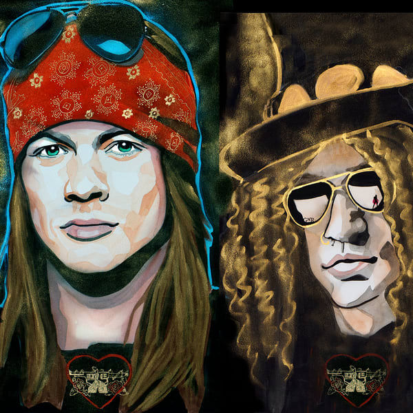 Guns N Roses Coaster Art | William K. Stidham - heART Art