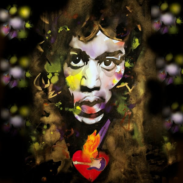 Jimi Hendrix Coaster Art | William K. Stidham - heART Art