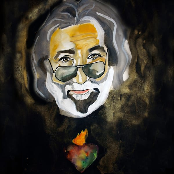 Jerry Garcia Coaster Art   William K. Stidham - heART Art