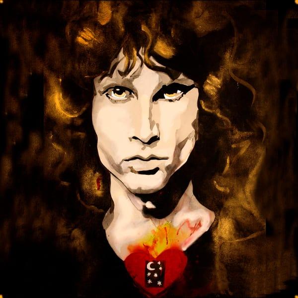 Jim Morrison Coaster Art   William K. Stidham - heART Art