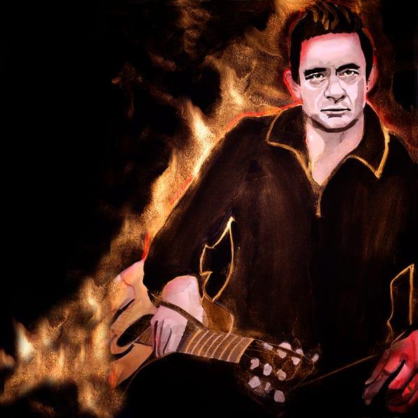 Johnny Cash 2 Coaster Art   William K. Stidham - heART Art