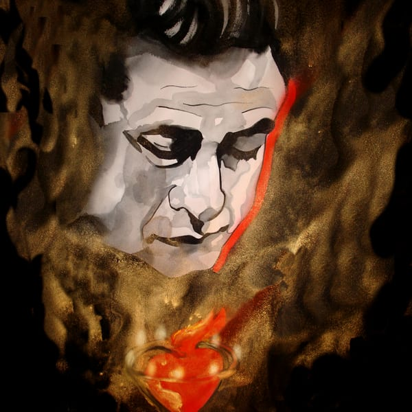 Johnny Cash Coaster Art   William K. Stidham - heART Art