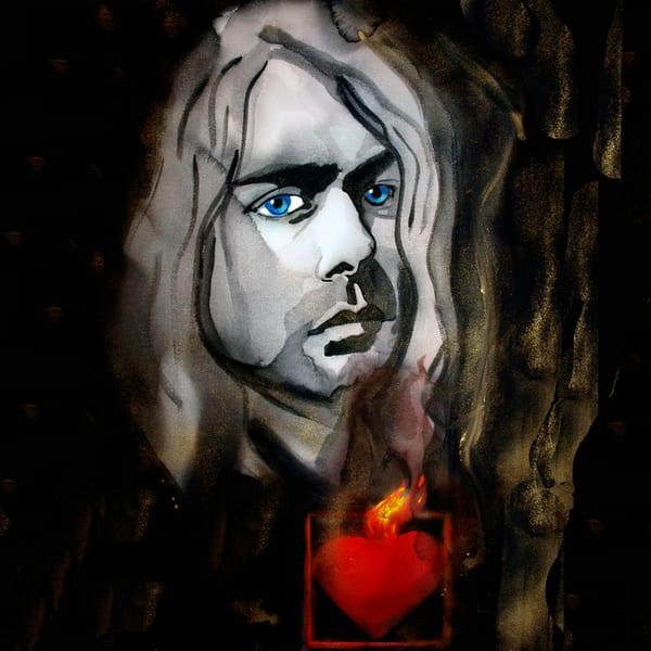 Kurt Cobain Coaster Art   William K. Stidham - heART Art