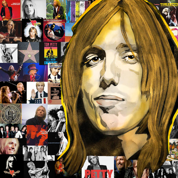 Tom Petty Pop Coaster Art | William K. Stidham - heART Art