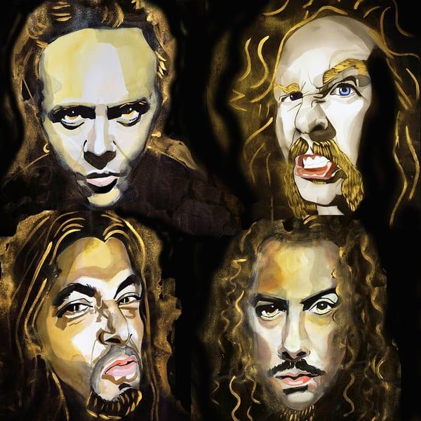 Metallica Coaster Art   William K. Stidham - heART Art