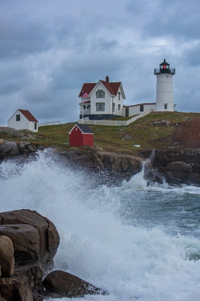 Nubble Nor Easter Photography Art | Jesse MacDonald Photography