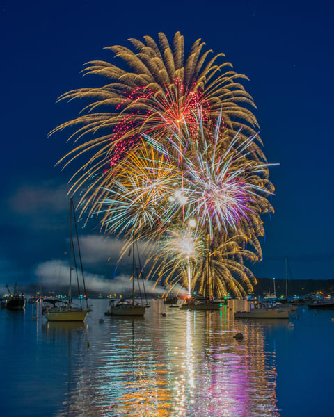 Boothbay Harbor Independence Day Iii Photography Art | Jesse MacDonald Photography