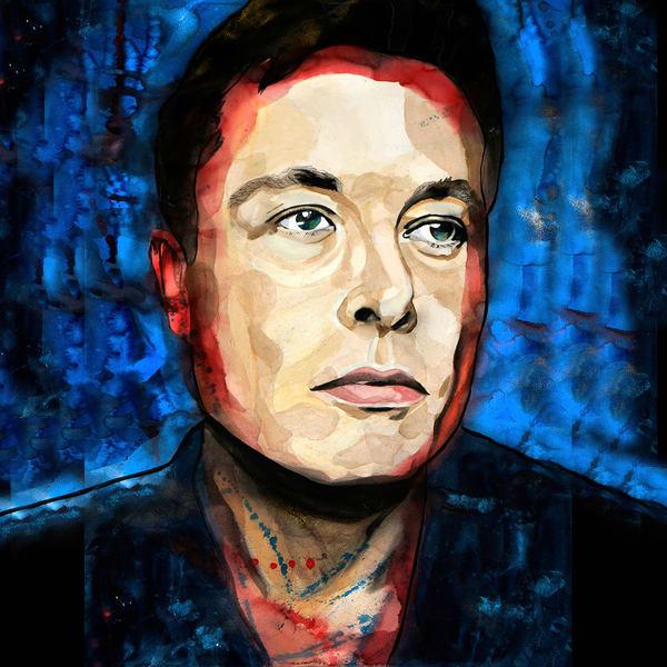 Elon Musk Coaster Art | William K. Stidham - heART Art