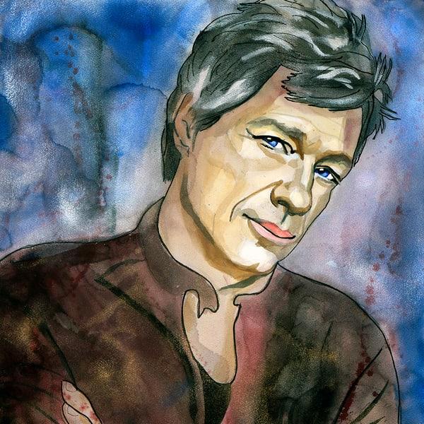 Jon Bon Jovi Coaster Art   William K. Stidham - heART Art