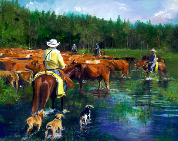 """The Cow Hunters"" Art 