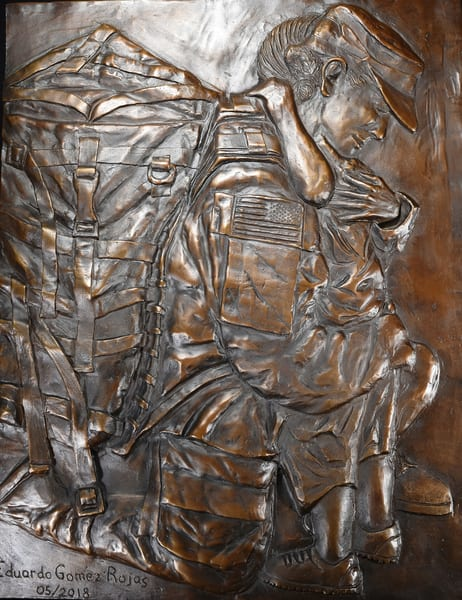 Unconditional - Cast Bronze Relief by Eduardo Gomez
