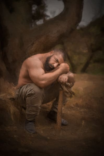 Asaf Narkis at rest in the Malibu Mountains,