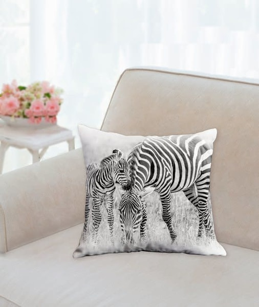 Pillow: 'stripes B&W' 14x14 | Carol Brooks Parker Fine Art Photography
