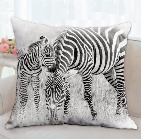 Pillow: 'stripes B&W' 26x26 | Carol Brooks Parker Fine Art Photography