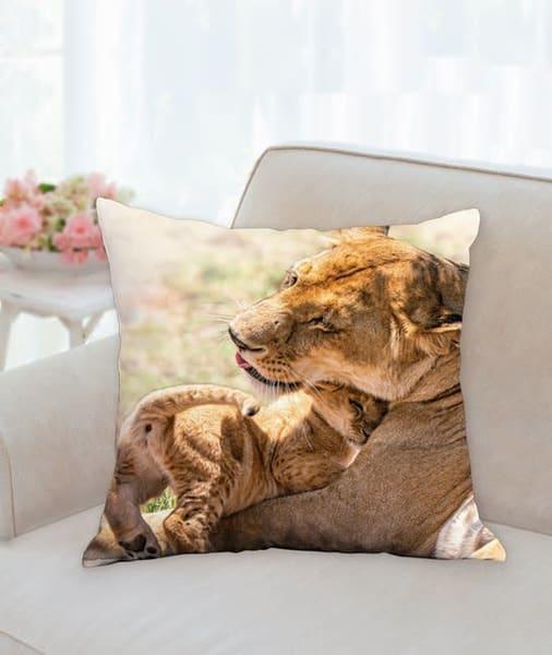 Pillow: 'a Mother's Love' 18x18   Carol Brooks Parker Fine Art Photography