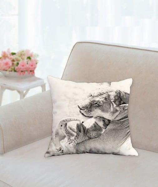 Pillow: 'a Mother's Love Sepia' 14x14   Carol Brooks Parker Fine Art Photography