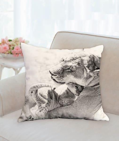 Pillow: 'a Mother's Love Sepia' 18x18   Carol Brooks Parker Fine Art Photography