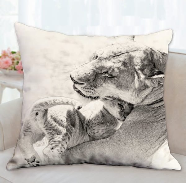 Pillow: 'a Mother's Love Sepia' 26x26   Carol Brooks Parker Fine Art Photography