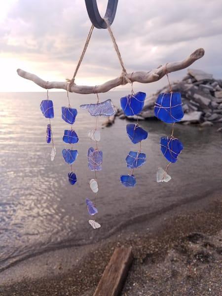 Speckled Blue Suncatcher