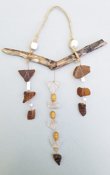 Natural Beads Suncatcher