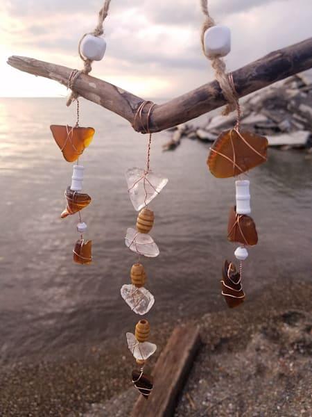 Natural Beads Suncatcher