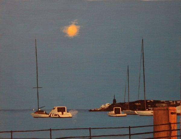 Santa Margherita Moon Art | David R. Prentice